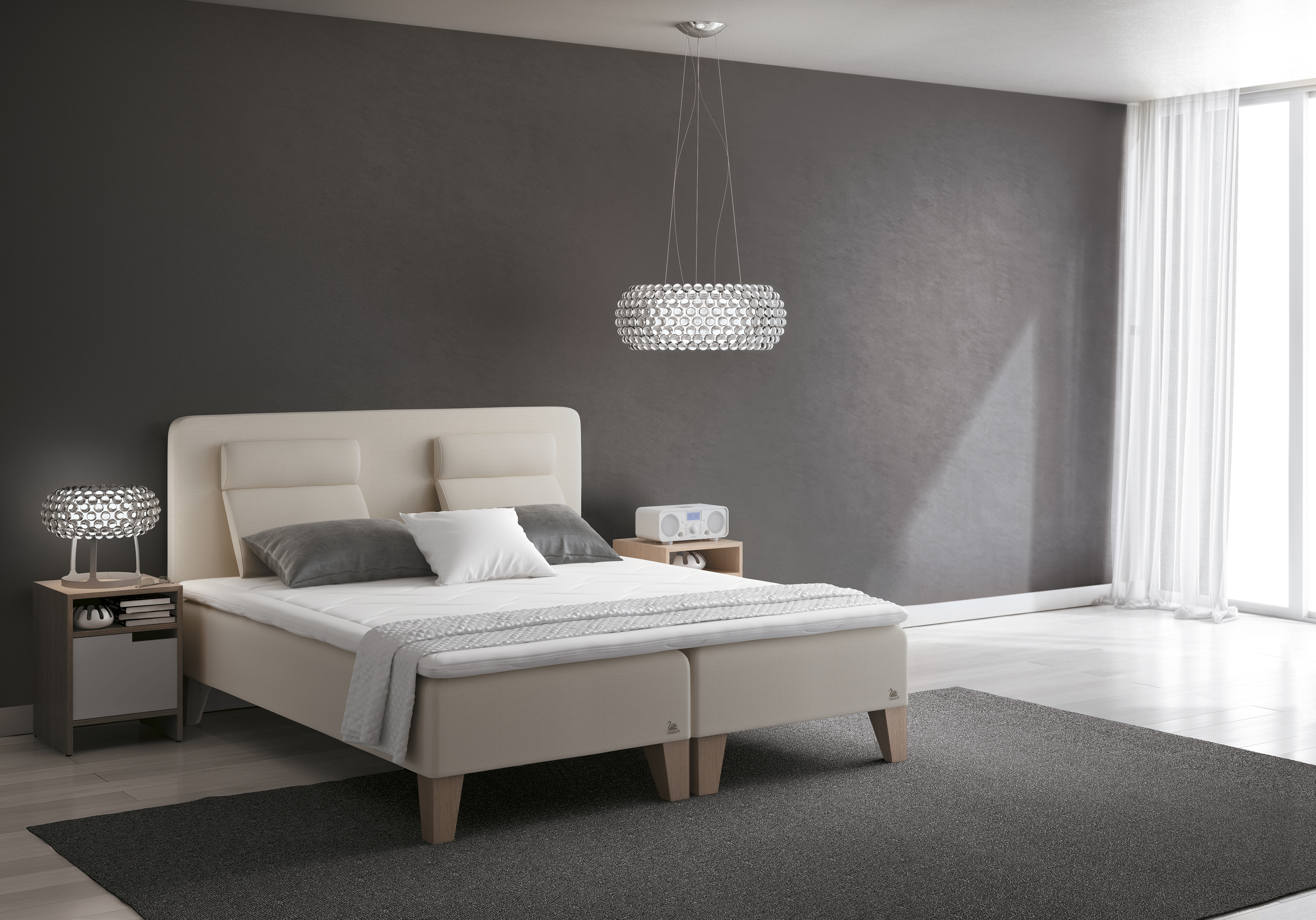 boxspringbetten vor dem esche. Black Bedroom Furniture Sets. Home Design Ideas